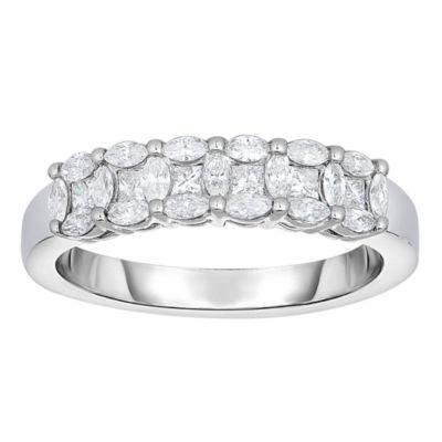 Womens 2.5 Mm 5/8 CT. T.W. Genuine White Diamond 14K Gold Band