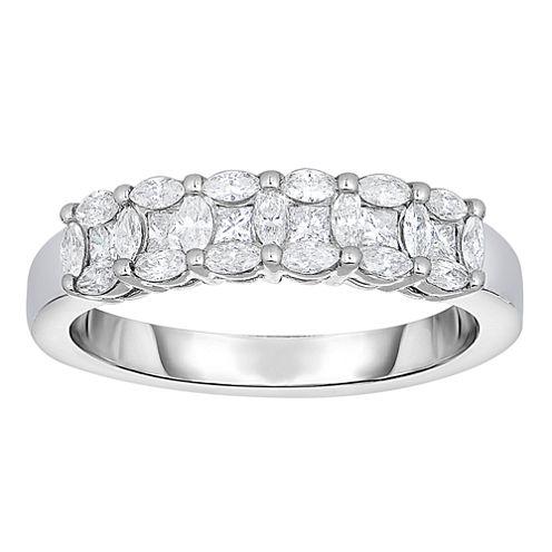 Womens 5/8 CT. T.W. Genuine White Diamond 14K Gold Band