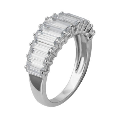 DiamonArt® Sterling Silver Baguette Cubic Zirconia Ring
