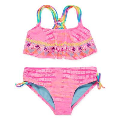 Breaking Waves Girls Bikini Set - Big Kid