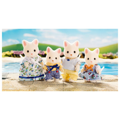 Calico Critters of Cloverleaf Corners Silk Cat Family