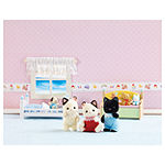 Calico Critters of Cloverleaf Corners Tuxedo Cat Triplets