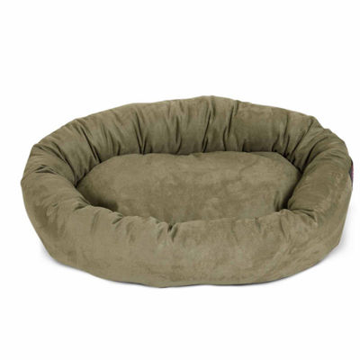Majestic Pet Suede Bagel Pet Bed