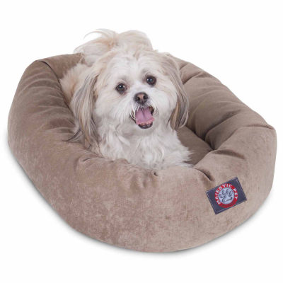 Majestic Pet Villa Collection Micro-Velvet Bagel Dog Bed