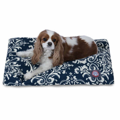 Majestic Pet French Quarter Rectangle Dog Bed - Navy Blue