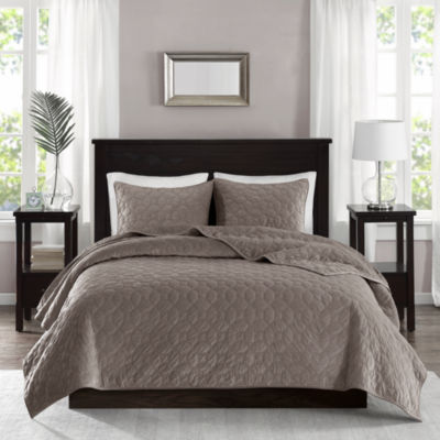 Madison Park Emery Velvet 3-pc. Coverlet Set