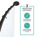 Maytex Mills Luminex Dual Mount Single Curved Shower Curtain Rod