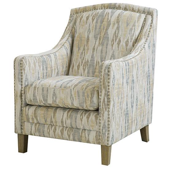 Madison Park Joanne Nailhead Fabric Club Chair