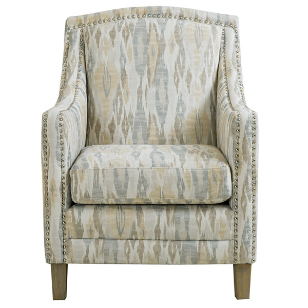 Madison Park Joanne Nailhead Fabric Club Chair