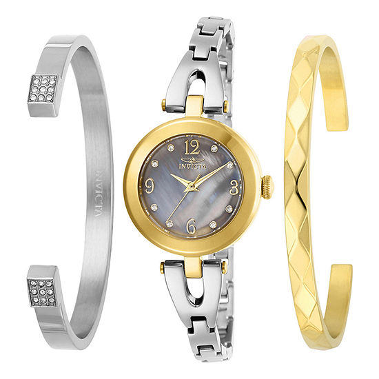 Invicta Angel Womens Silver Tone Stainless Steel 3-pc. Watch Boxed Set-29336