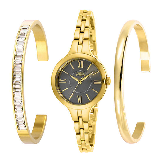 Invicta Angel Womens Gold Tone Stainless Steel Bracelet Watch-29342