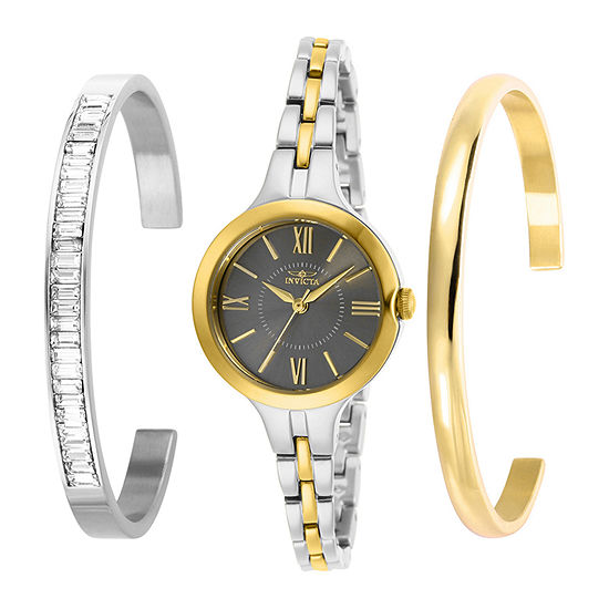 Invicta Angel Womens Two Tone Stainless Steel 3-pc. Watch Boxed Set-29345