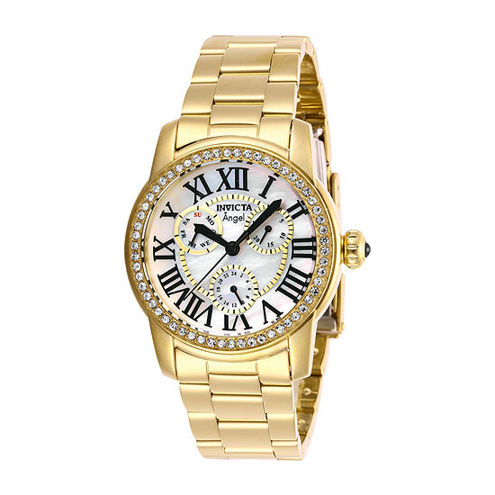 Invicta Angel Womens Gold Tone Stainless Steel Bracelet Watch-28472