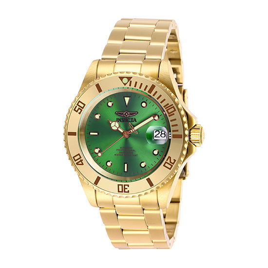 Invicta Pro Diver Mens Automatic Gold Tone Stainless Steel Bracelet Watch-28665