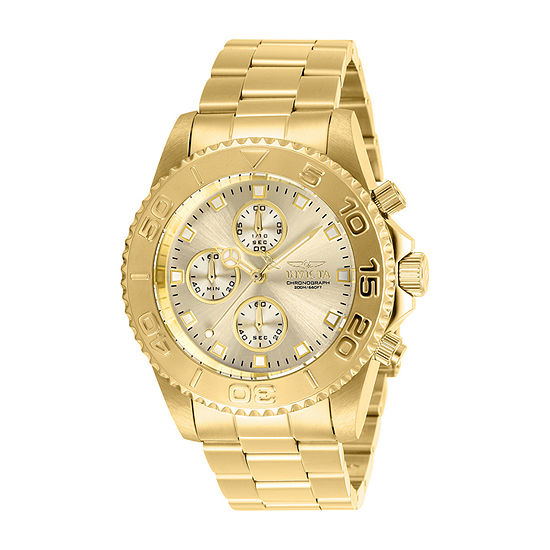 Invicta Pro Diver Mens Gold Tone Stainless Steel Bracelet Watch-28683