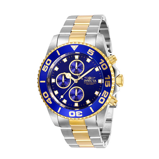 Invicta Pro Diver Mens Two Tone Stainless Steel Strap Watch-28692