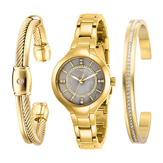 Invicta Angel Womens Gold Tone Stainless Steel Bracelet Watch-29324