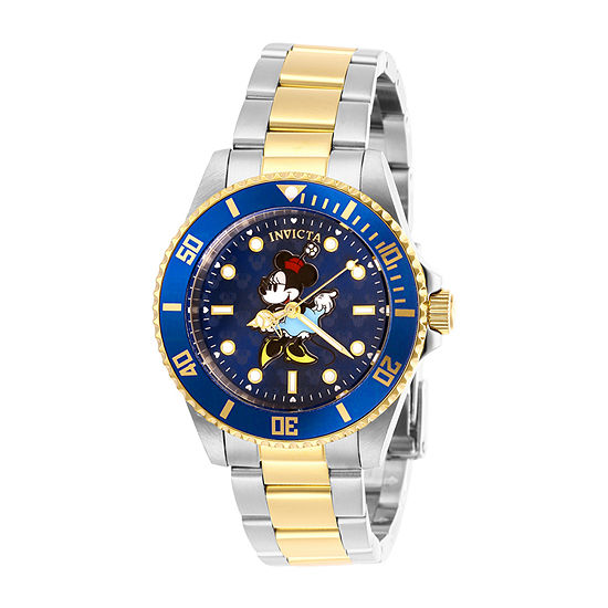 Invicta Disney Minnie Mouse Womens Two Tone Stainless Steel Bracelet Watch-29677