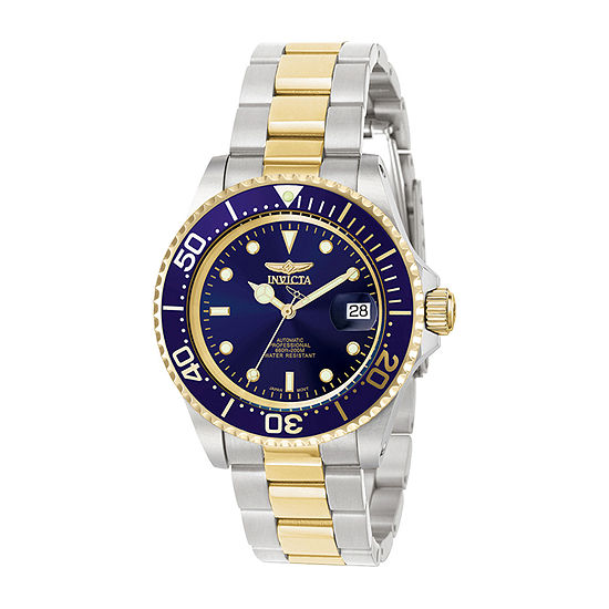 Invicta Pro Diver Mens Automatic Two Tone Stainless Steel Bracelet Watch - 8928ob