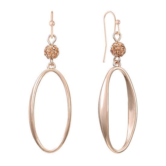 Liz Claiborne Orange Oval Drop Earrings