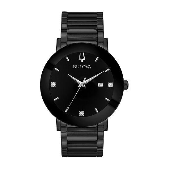 Bulova Futuro Mens Black Stainless Steel Bracelet Watch-98d144