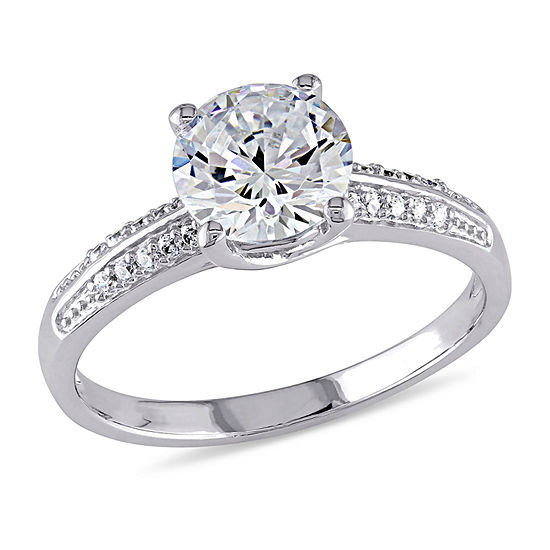 Womens 3 3/4 CT. T.W. White Cubic Zirconia Sterling Silver Engagement Ring