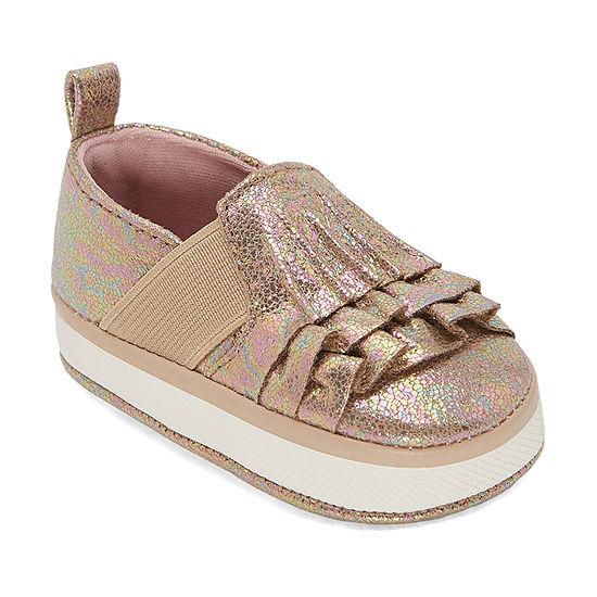 Okie Dokie Girls Ruffle Crib Shoes