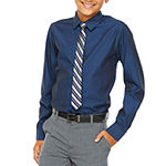 Van Heusen Little & Big Boys Point Collar Long Sleeve Stretch Shirt + Tie Set