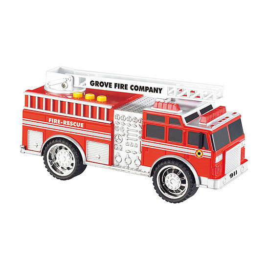 Grooyi Push Toy Fire Truck With Flashing Lights & Sound
