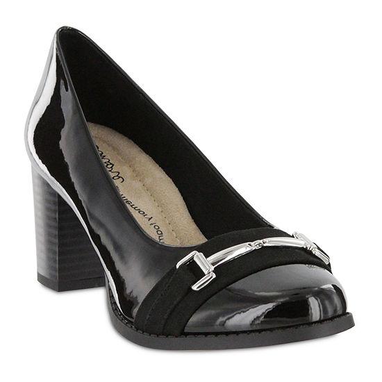 Mia Amore Womens Ivanna Pumps Stacked Heel