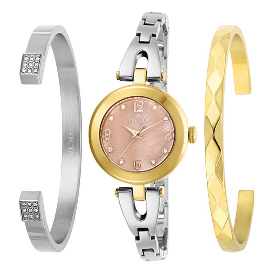 Invicta Angel Womens Two Tone Stainless Steel Bracelet Watch-29337