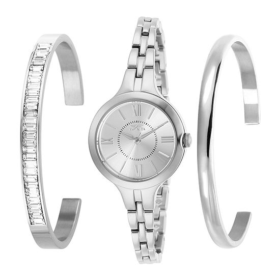 Invicta Angel Womens Silver Tone Stainless Steel 3-pc. Watch Boxed Set-29339