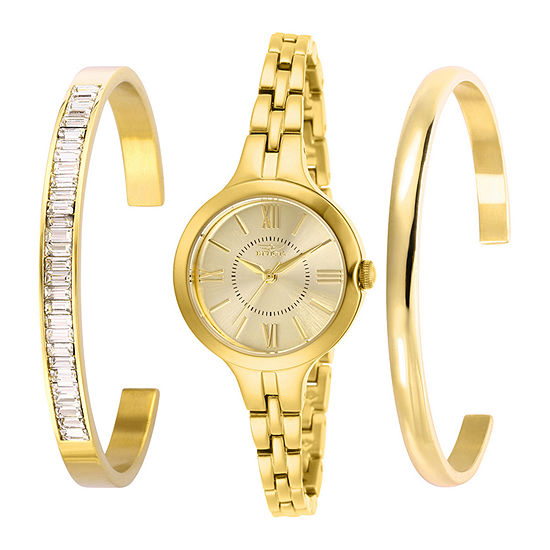 Invicta Angel Womens Gold Tone Stainless Steel 3-pc. Watch Boxed Set-29340