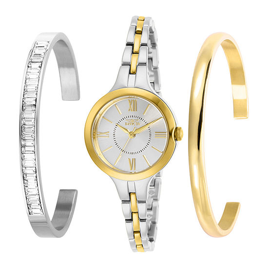 Invicta Angel Womens Two Tone Stainless Steel 3-pc. Watch Boxed Set-29344