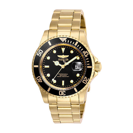 Invicta Pro Diver Mens Gold Tone Stainless Steel Bracelet Watch-26975