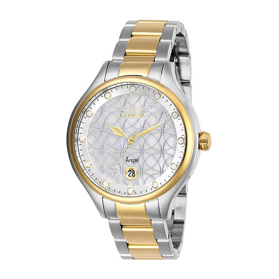 Invicta Angel Womens Two Tone Stainless Steel Bracelet Watch-27436