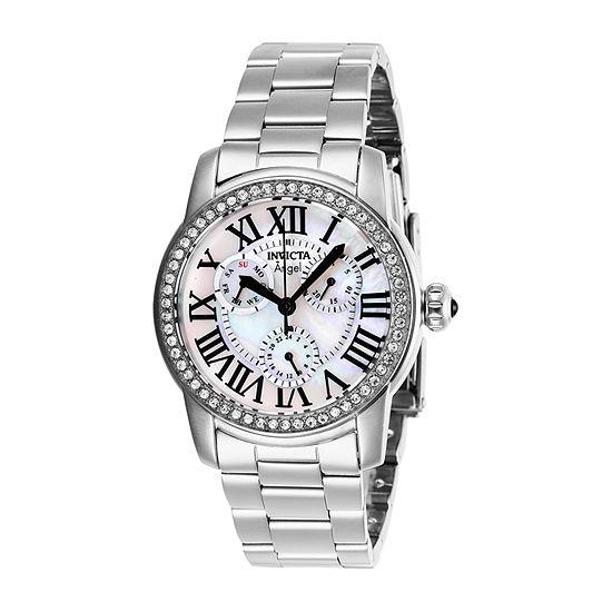 Invicta Angel Womens Silver Tone Stainless Steel Bracelet Watch-28470