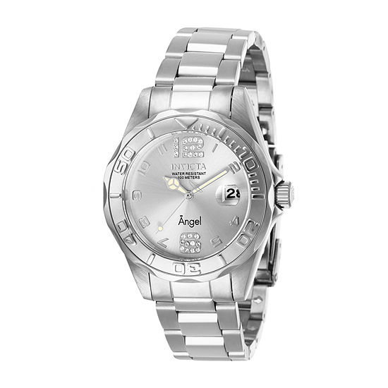 Invicta Angel Womens Silver Tone Stainless Steel Bracelet Watch-28679