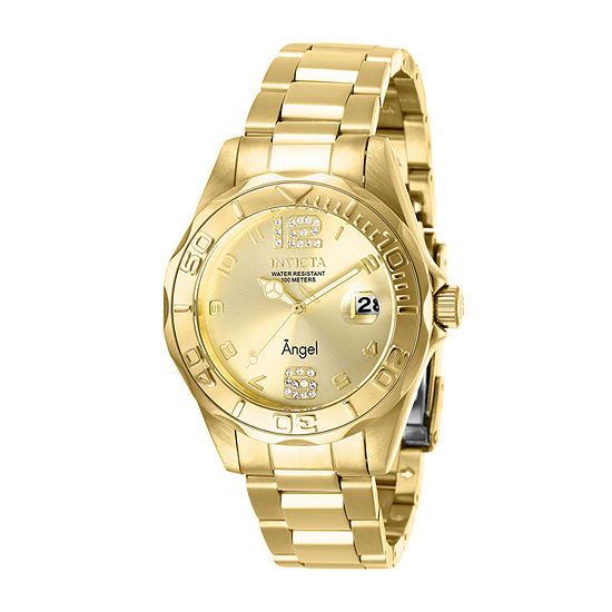 Invicta Angel Womens Gold Tone Stainless Steel Bracelet Watch-28680