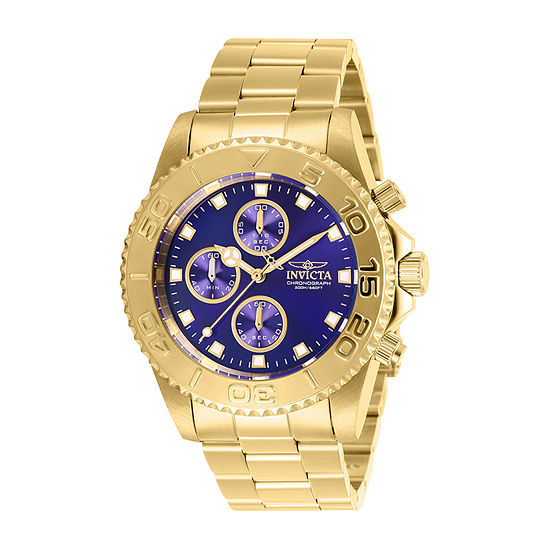 Invicta Pro Diver Mens Gold Tone Stainless Steel Bracelet Watch-28682