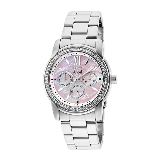 Invicta Angel Womens Silver Tone Stainless Steel Bracelet Watch-28687
