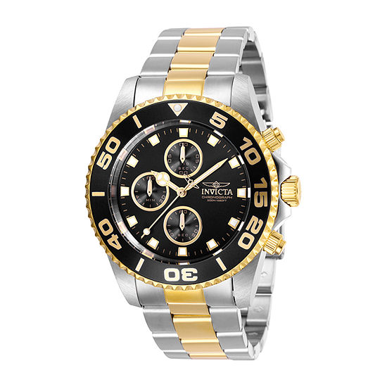 Invicta Pro Diver Mens Two Tone Stainless Steel Bracelet Watch-28691