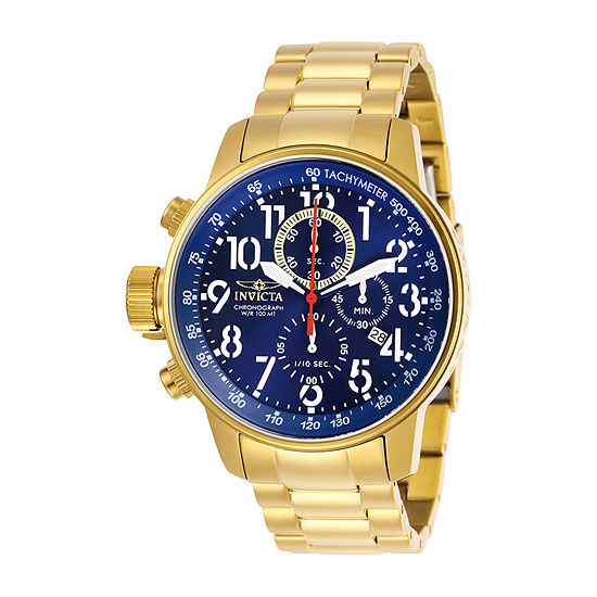Invicta I-Force Mens Gold Tone Stainless Steel Bracelet Watch-28744