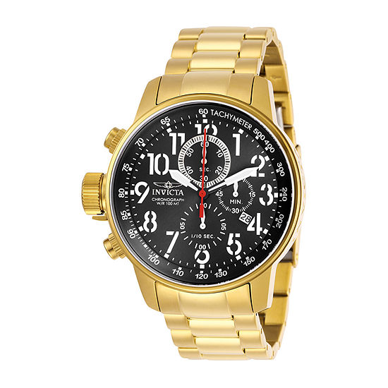 Invicta I-Force Mens Gold Tone Stainless Steel Bracelet Watch - 28745