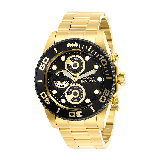 Invicta Dc Comics Mens Gold Tone Stainless Steel Bracelet Watch-29060