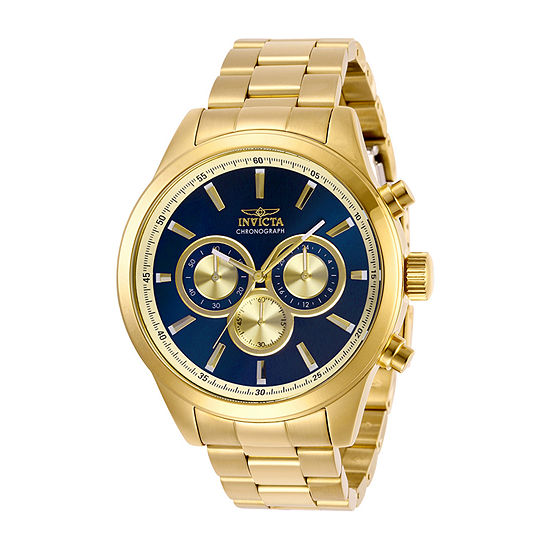 Invicta Specialty Mens Gold Tone Stainless Steel Bracelet Watch-29175