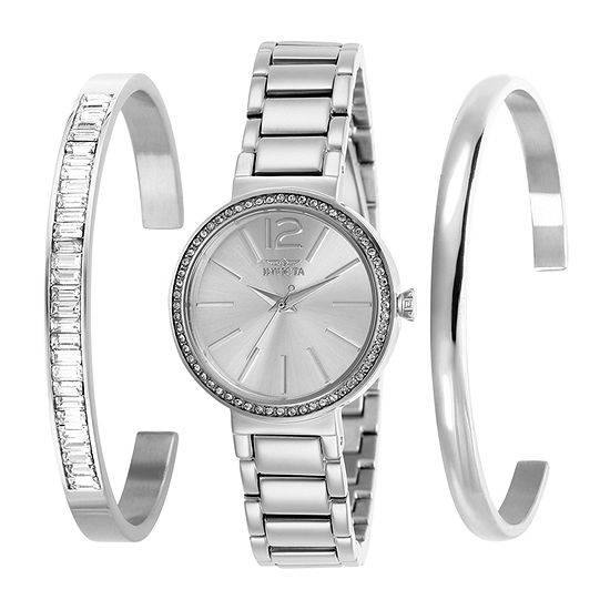 Invicta Angel Womens Silver Tone Stainless Steel Bracelet Watch-29268