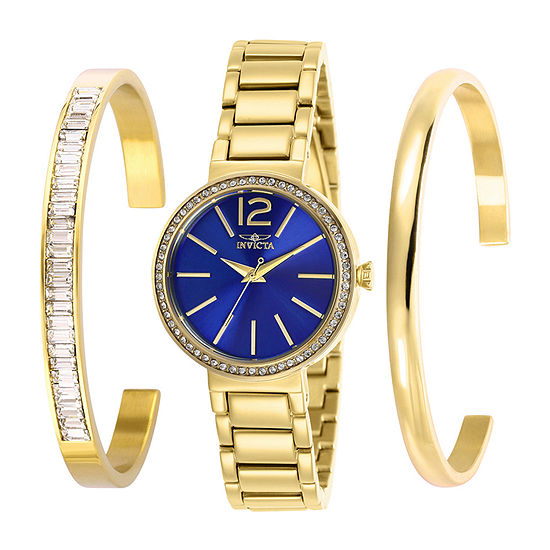 Invicta Angel Womens Gold Tone Stainless Steel Bracelet Watch-29270