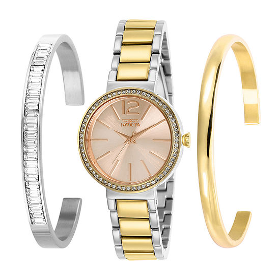 Invicta Angel Womens Two Tone Stainless Steel Bracelet Watch-29275