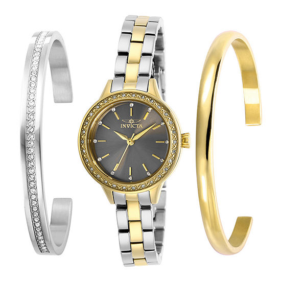 Invicta Angel Womens Two Tone Stainless Steel Bracelet Watch-29317